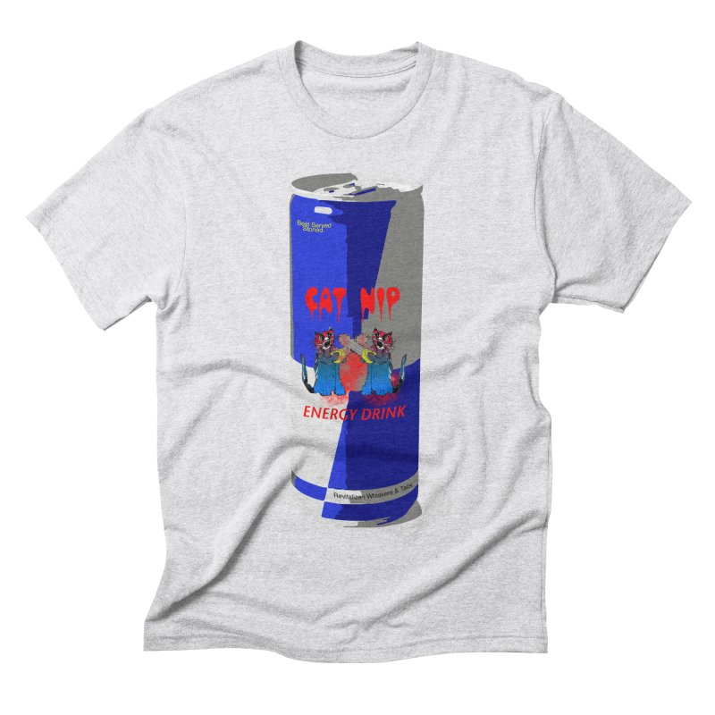 Cat Nip Energy in Men's Triblend T-shirt Heather White by loveandnate's Artist Shop