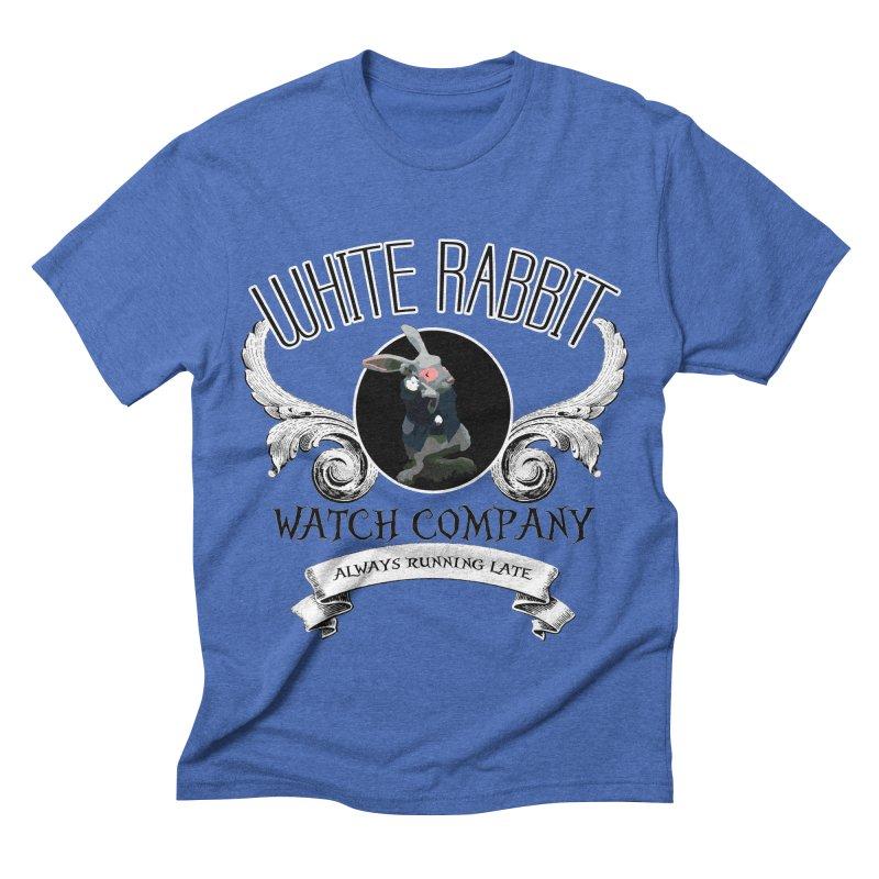 WHITE RABBIT WATCH CO. in Men's Triblend T-shirt Blue Triblend by loveandnate's Artist Shop