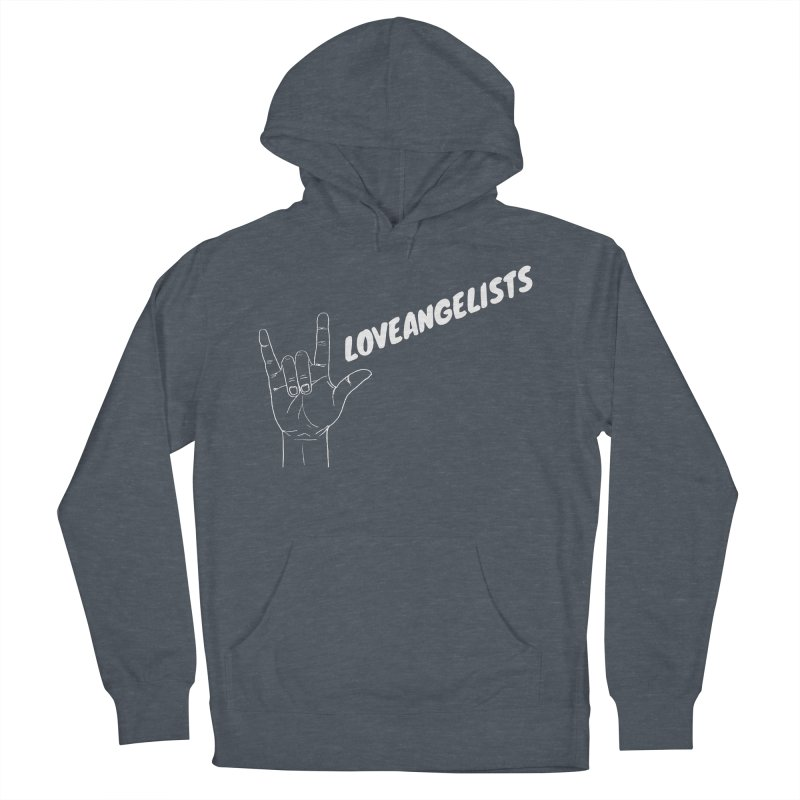 loveangelists White Women's French Terry Pullover Hoody by Loveangelists Swag