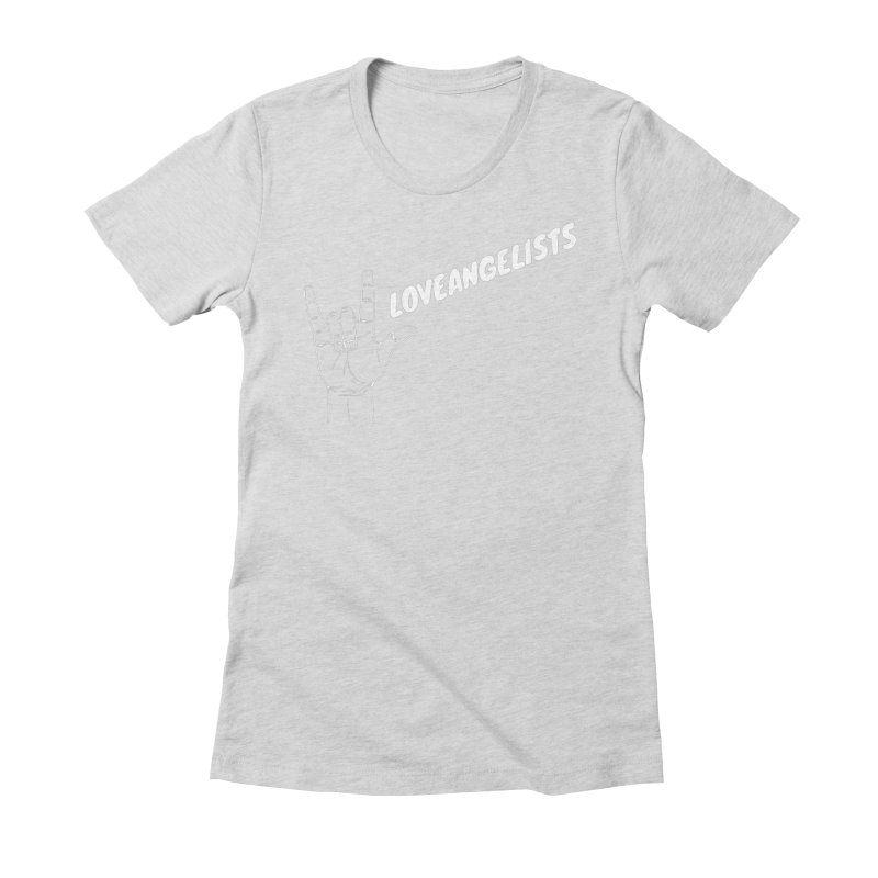 loveangelists White Women's Fitted T-Shirt by Loveangelists Swag