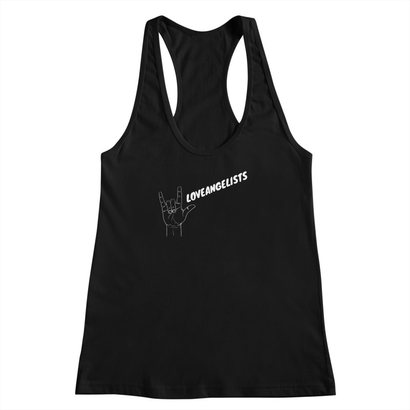 loveangelists White Women's Racerback Tank by Loveangelists Swag