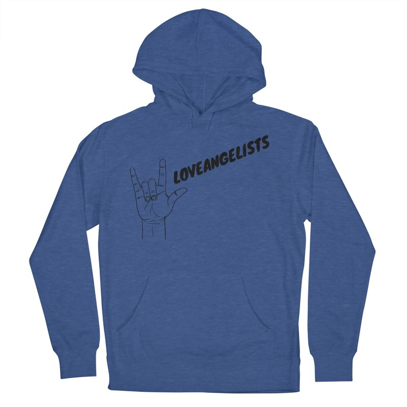 Loveangelists Black Women's French Terry Pullover Hoody by Loveangelists Swag