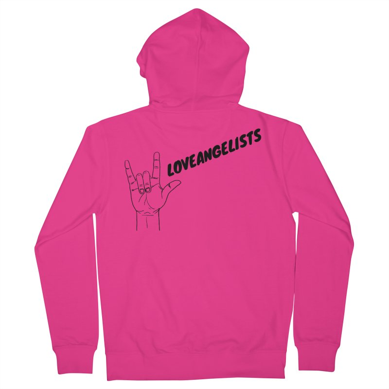 Loveangelists Black Men's French Terry Zip-Up Hoody by Loveangelists Swag