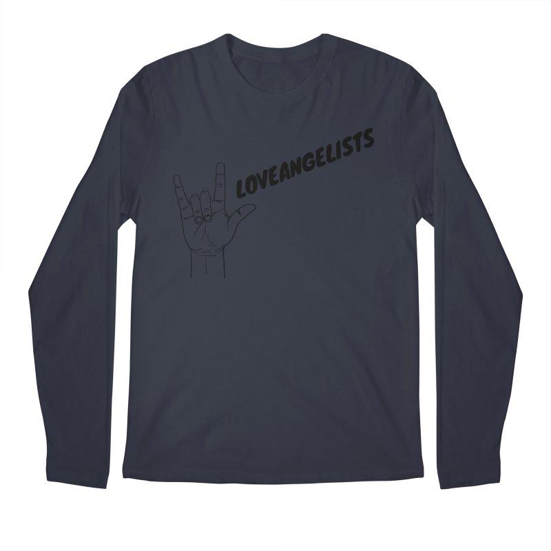 Loveangelists Black Men's Regular Longsleeve T-Shirt by Loveangelists Swag