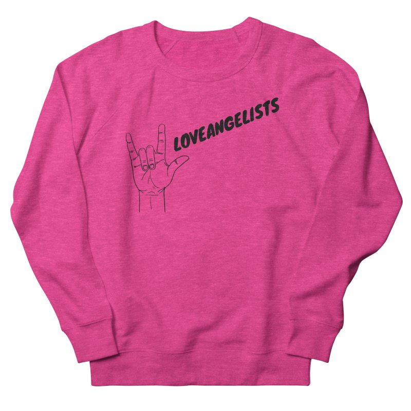 Loveangelists Black Men's French Terry Sweatshirt by Loveangelists Swag