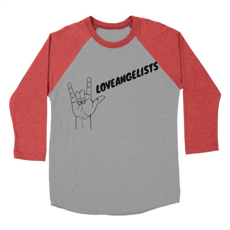 Loveangelists Black Women's Baseball Triblend Longsleeve T-Shirt by Loveangelists Swag