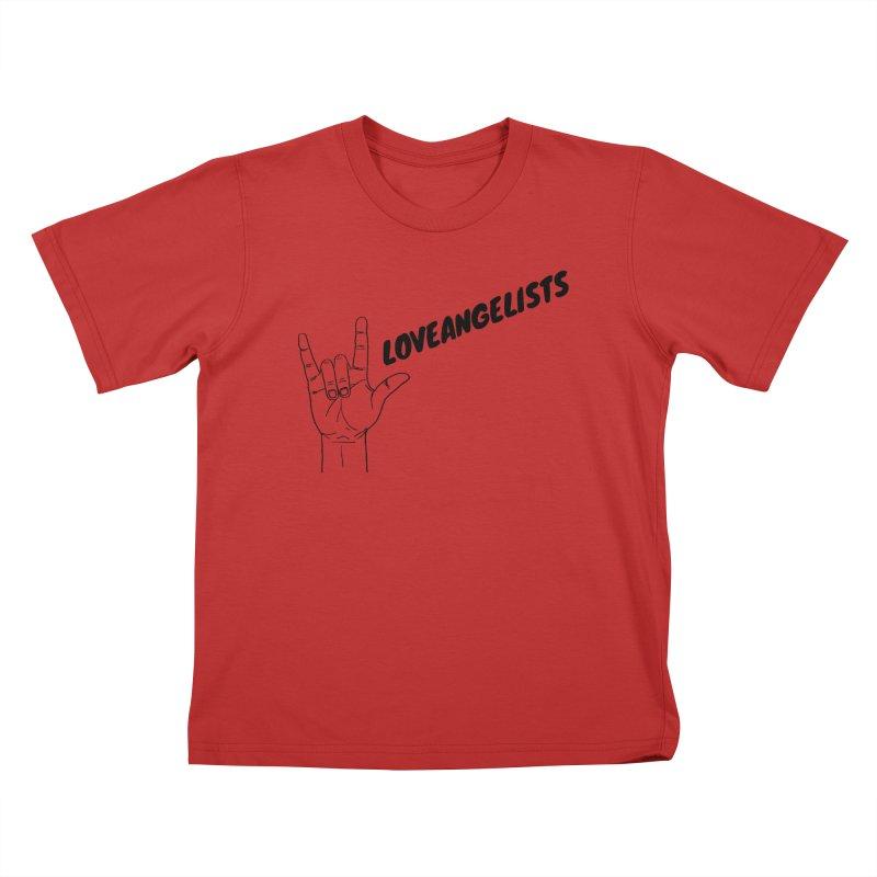 Loveangelists Black Kids T-Shirt by Loveangelists Swag