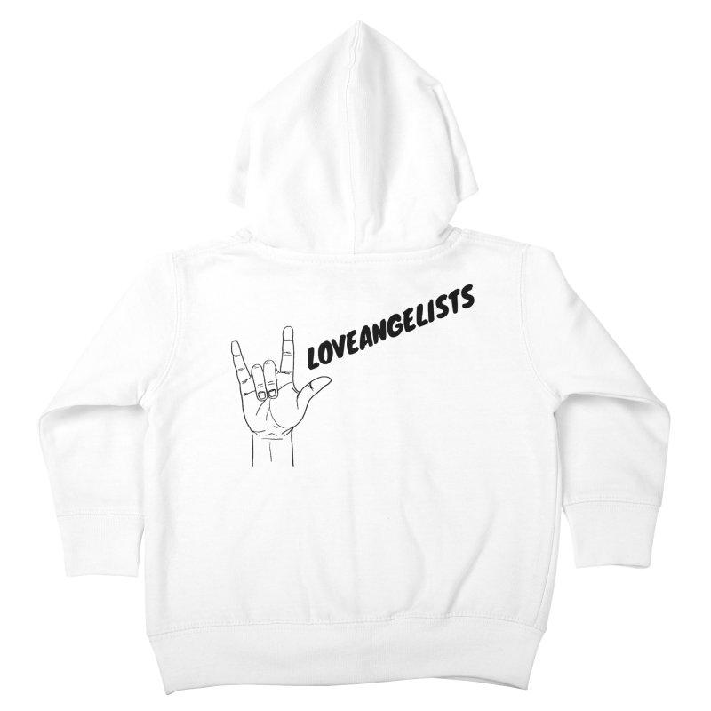 Loveangelists Black Kids Toddler Zip-Up Hoody by Loveangelists Swag