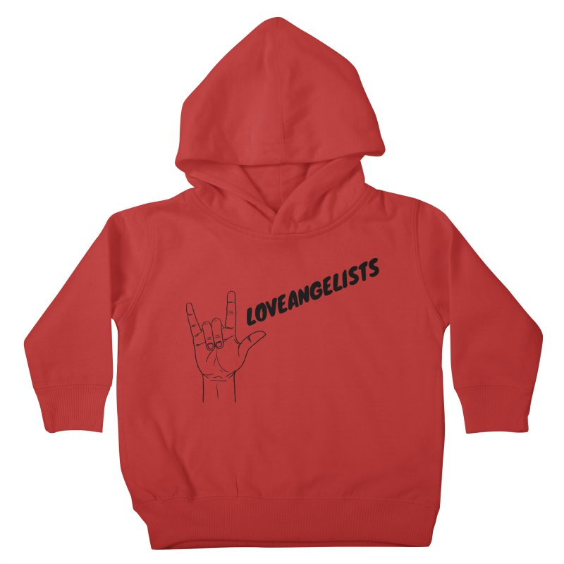 Loveangelists Black Kids Toddler Pullover Hoody by Loveangelists Swag