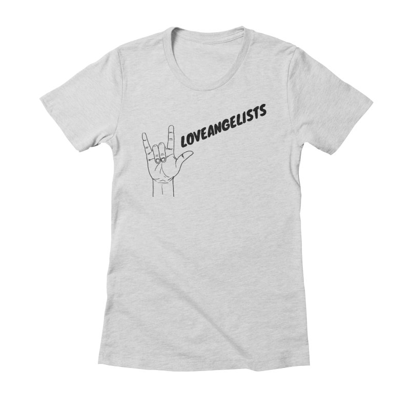 Loveangelists Black Women's Fitted T-Shirt by Loveangelists Swag