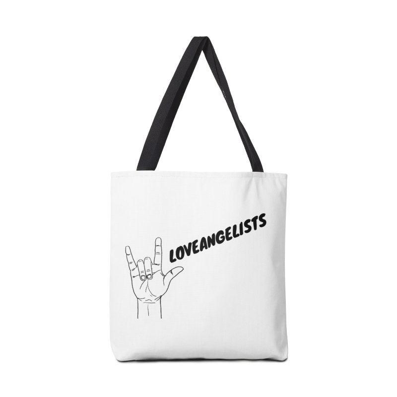 Loveangelists Black Accessories Tote Bag Bag by Loveangelists Swag