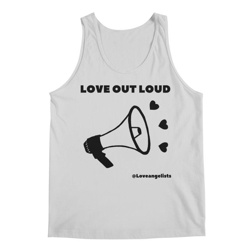 Love Out Loud Men's Regular Tank by Loveangelists Swag