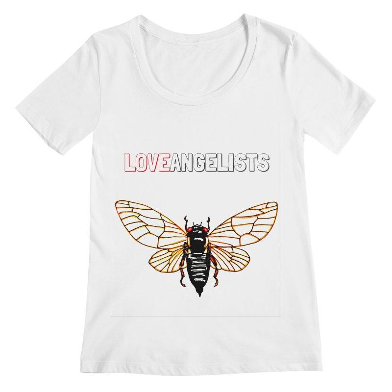 Cicada Women's Regular Scoop Neck by Loveangelists Swag