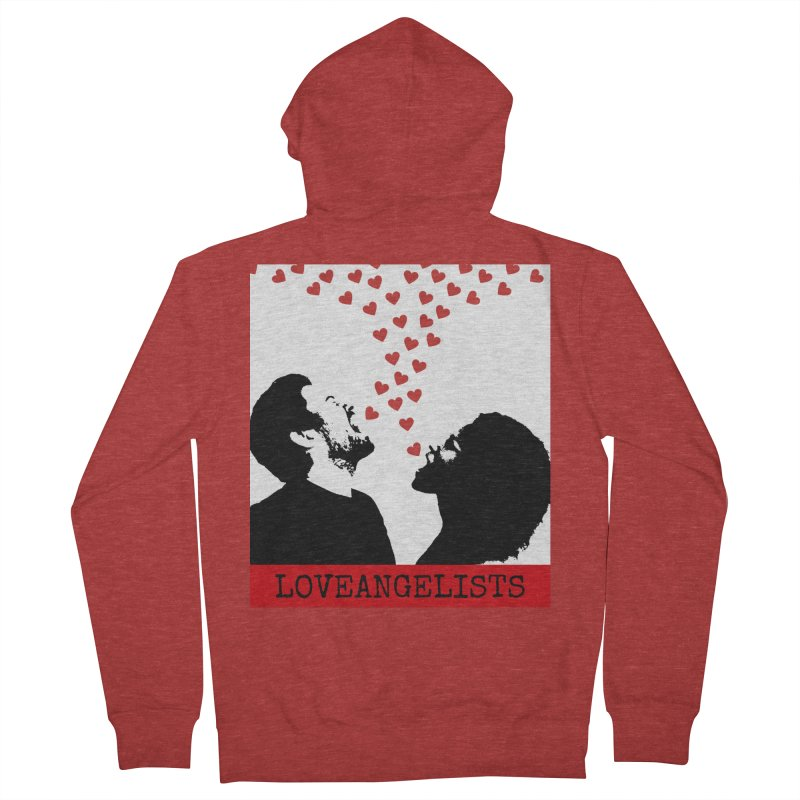 Love Shout Men's French Terry Zip-Up Hoody by Loveangelists Swag