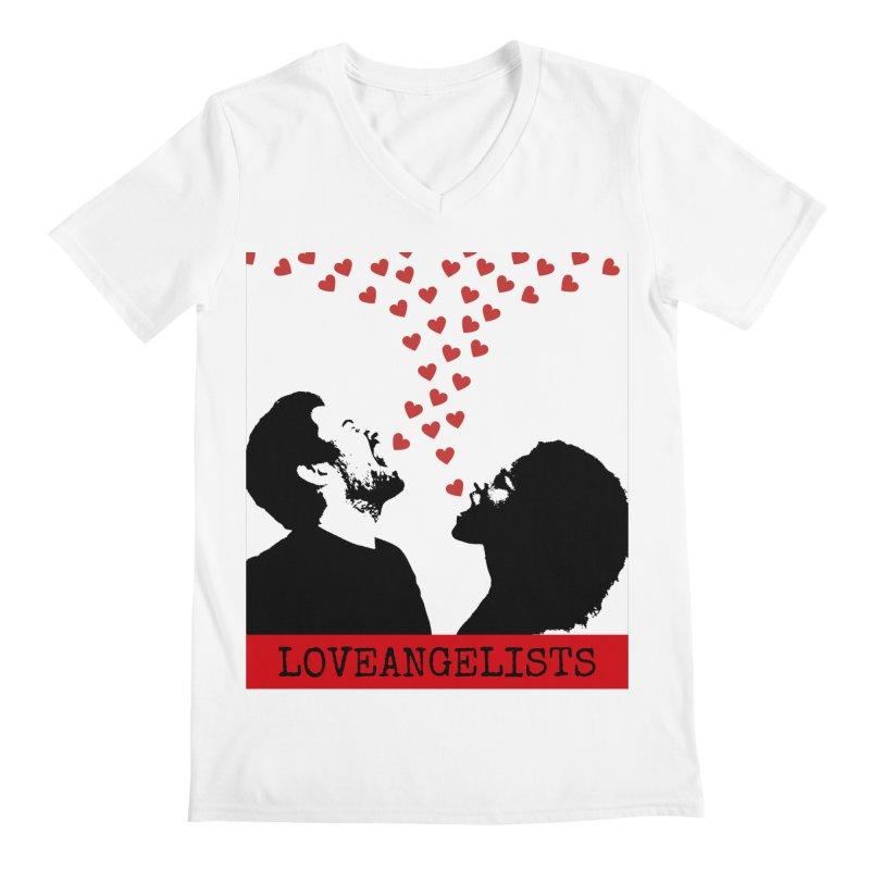 Love Shout Men's Regular V-Neck by Loveangelists Swag