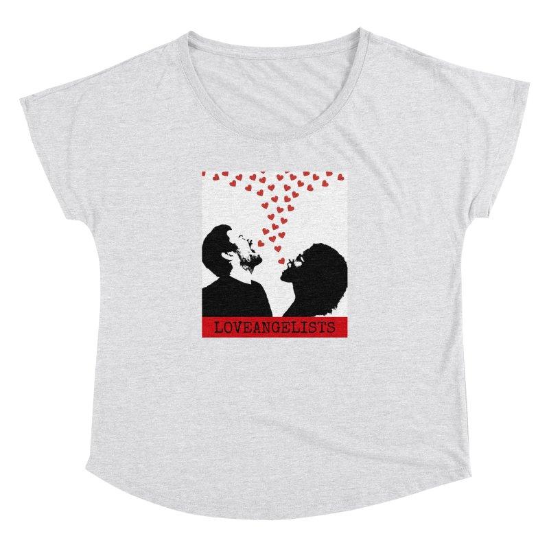 Love Shout Women's Dolman Scoop Neck by Loveangelists Swag