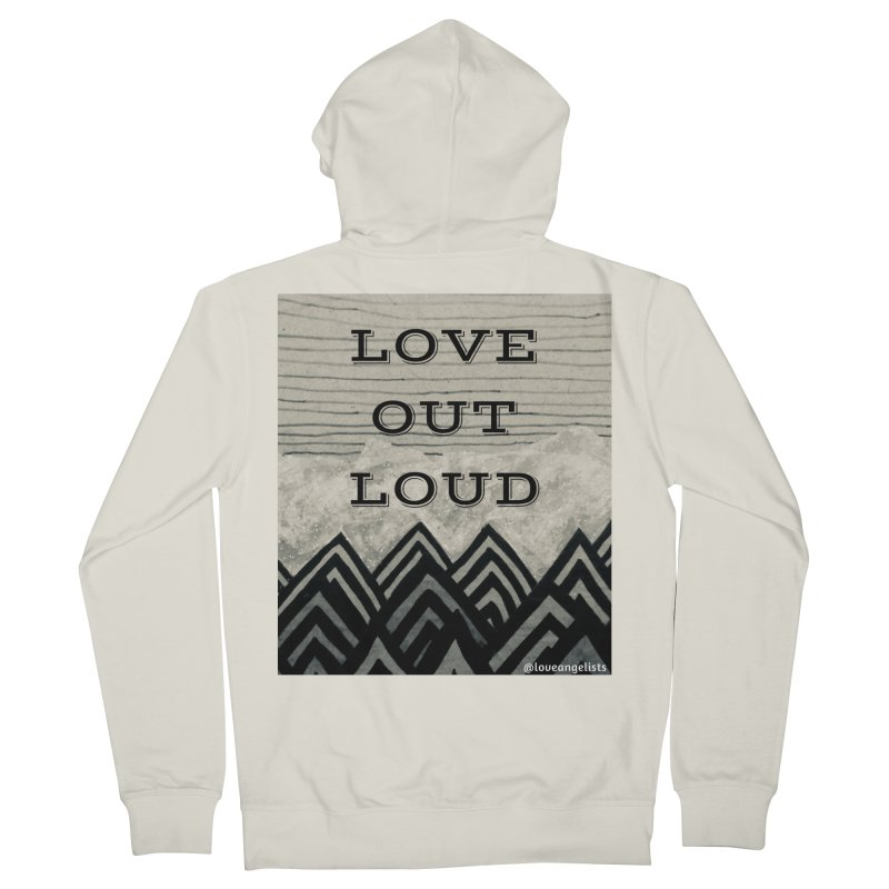 Love Out Loud Women's French Terry Zip-Up Hoody by Loveangelists Swag