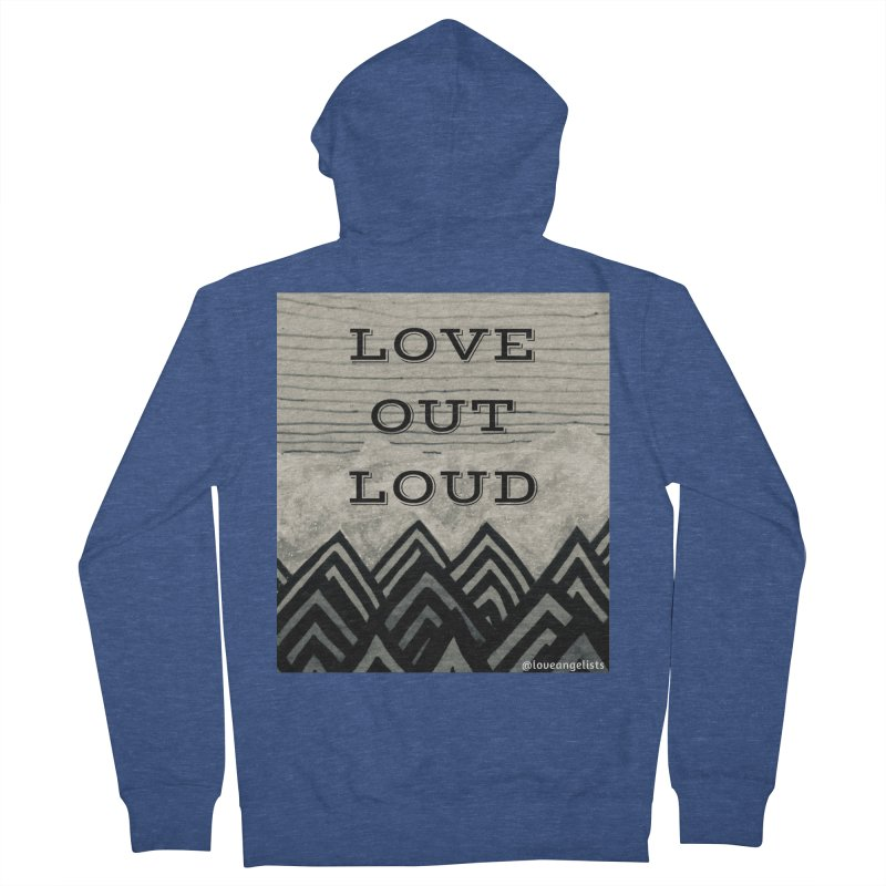 Love Out Loud Men's French Terry Zip-Up Hoody by Loveangelists Swag