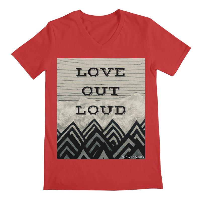 Love Out Loud Men's Regular V-Neck by Loveangelists Swag