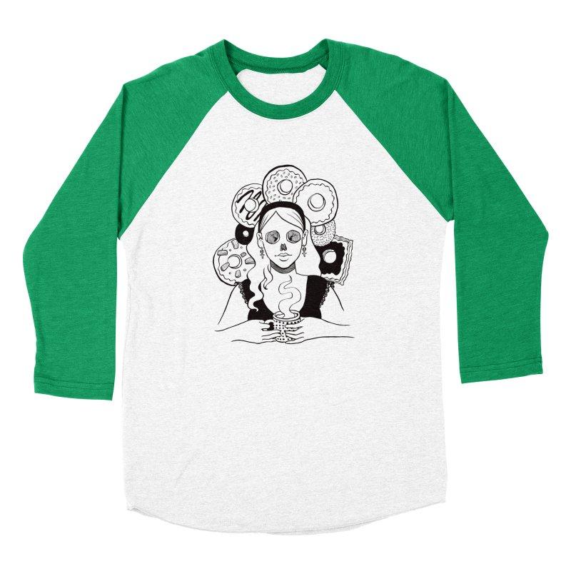 Death 'n' Donuts Women's Baseball Triblend Longsleeve T-Shirt by Melisa Des Rosiers Artist Shop