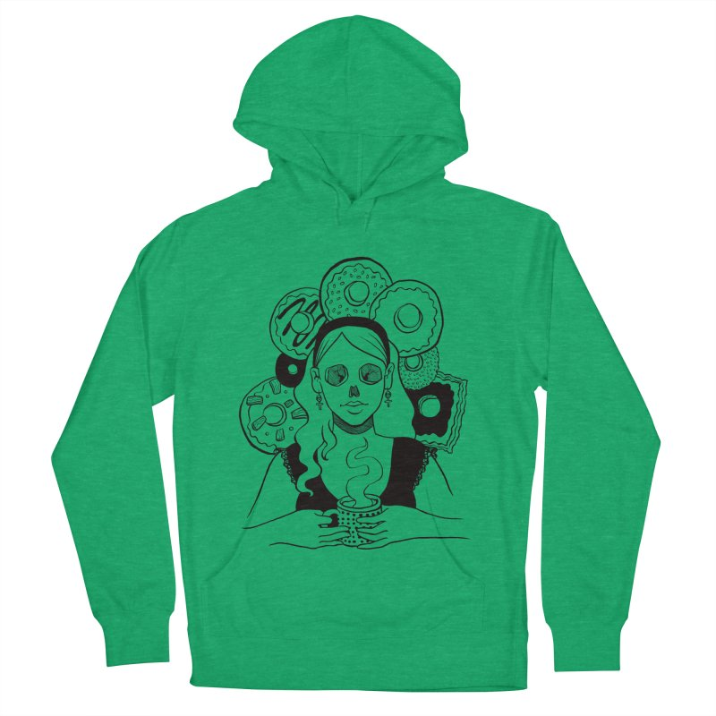 Death 'n' Donuts Women's French Terry Pullover Hoody by Melisa Des Rosiers Artist Shop