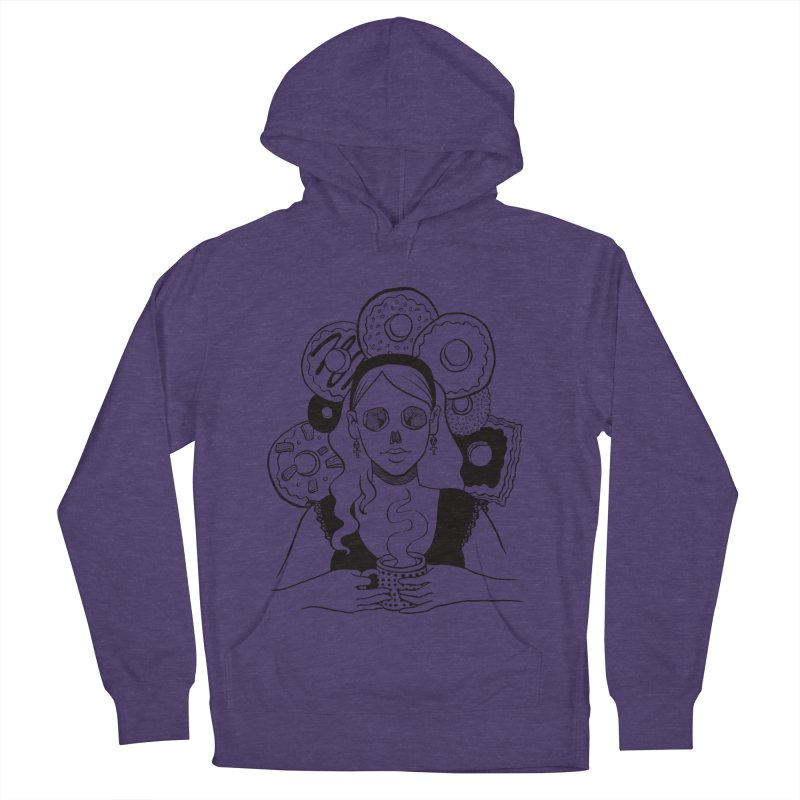 Death 'n' Donuts Men's French Terry Pullover Hoody by Melisa Des Rosiers Artist Shop