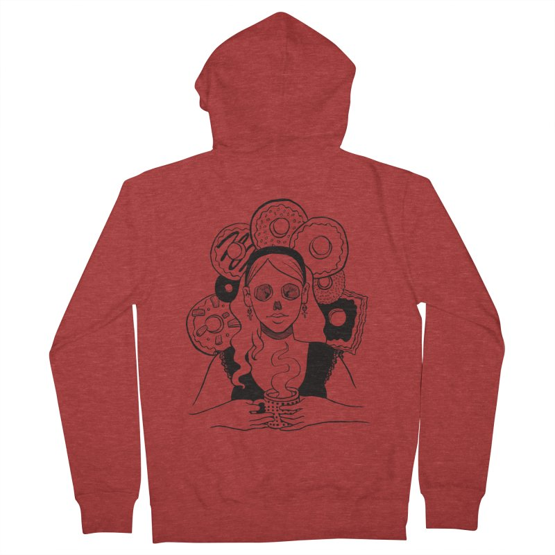 Death 'n' Donuts Women's French Terry Zip-Up Hoody by Melisa Des Rosiers Artist Shop