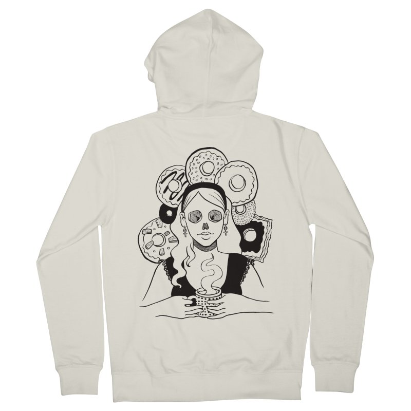 Death 'n' Donuts Women's Zip-Up Hoody by Love for Ink Artist Shop