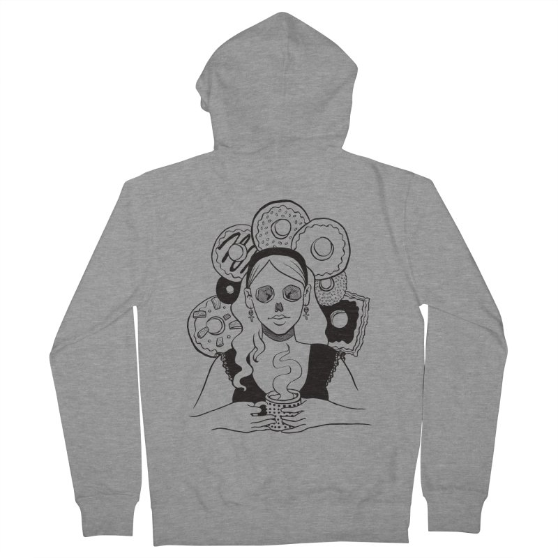 Death 'n' Donuts Men's Zip-Up Hoody by Love for Ink Artist Shop