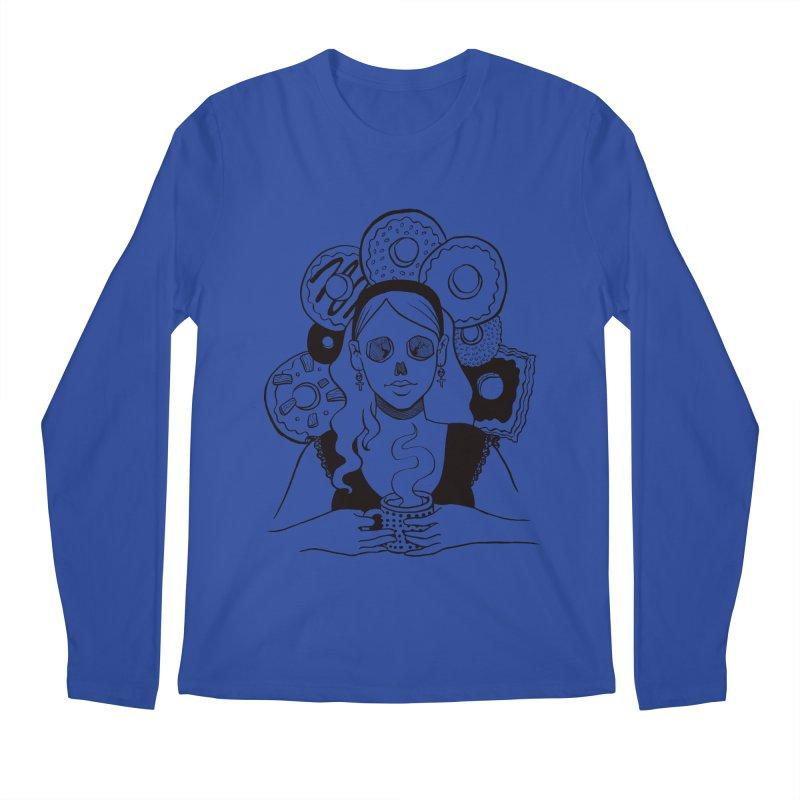 Death 'n' Donuts Men's Longsleeve T-Shirt by Love for Ink Artist Shop