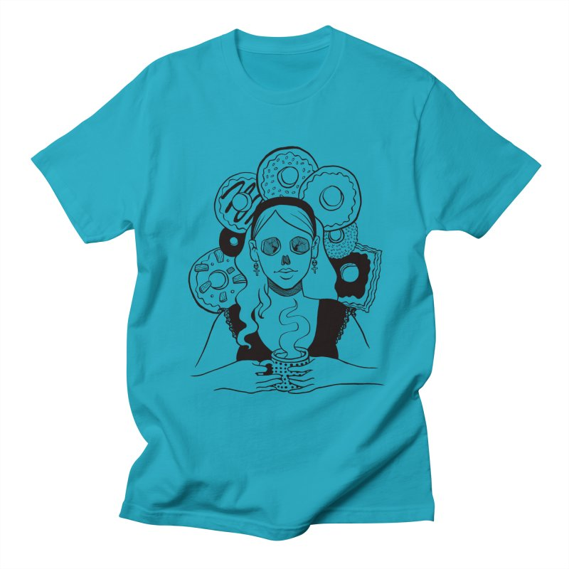 Death 'n' Donuts Women's Regular Unisex T-Shirt by Melisa Des Rosiers Artist Shop
