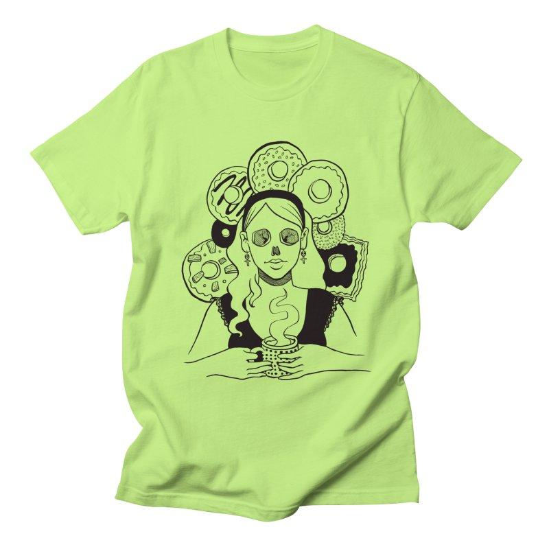 Death 'n' Donuts Men's Regular T-Shirt by Melisa Des Rosiers Artist Shop