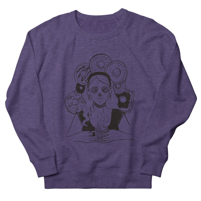 Death 'n' Donuts Women's French Terry Sweatshirt by Melisa Des Rosiers Artist Shop