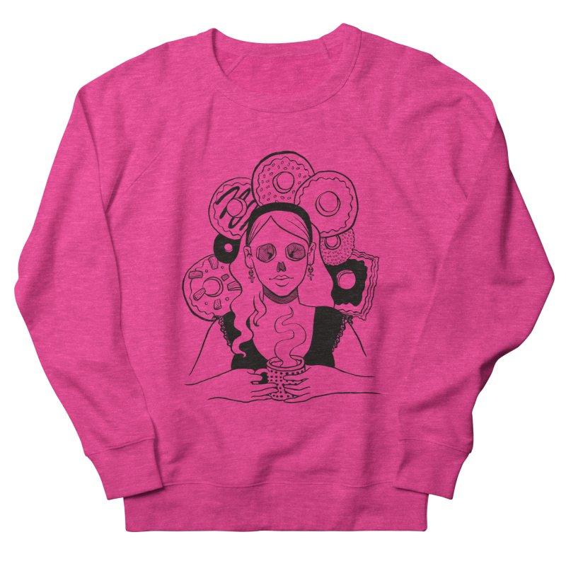Death 'n' Donuts Women's French Terry Sweatshirt by Melisa Des Rosiers Artist Shop