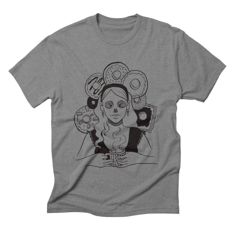 Death 'n' Donuts Men's Triblend T-Shirt by Melisa Des Rosiers Artist Shop