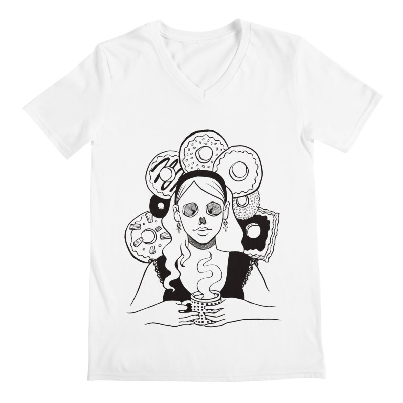 Death 'n' Donuts Men's Regular V-Neck by Melisa Des Rosiers Artist Shop