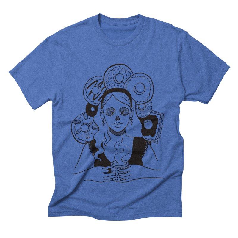 Death 'n' Donuts Men's Triblend T-shirt by Love for Ink Artist Shop