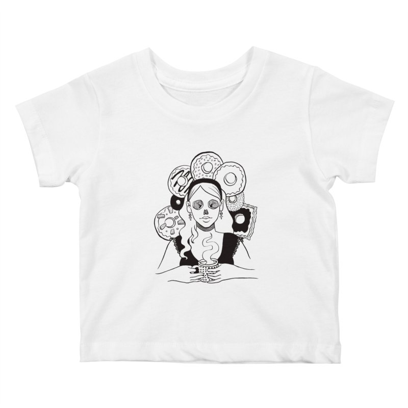 Death 'n' Donuts Kids Baby T-Shirt by Melisa Des Rosiers Artist Shop