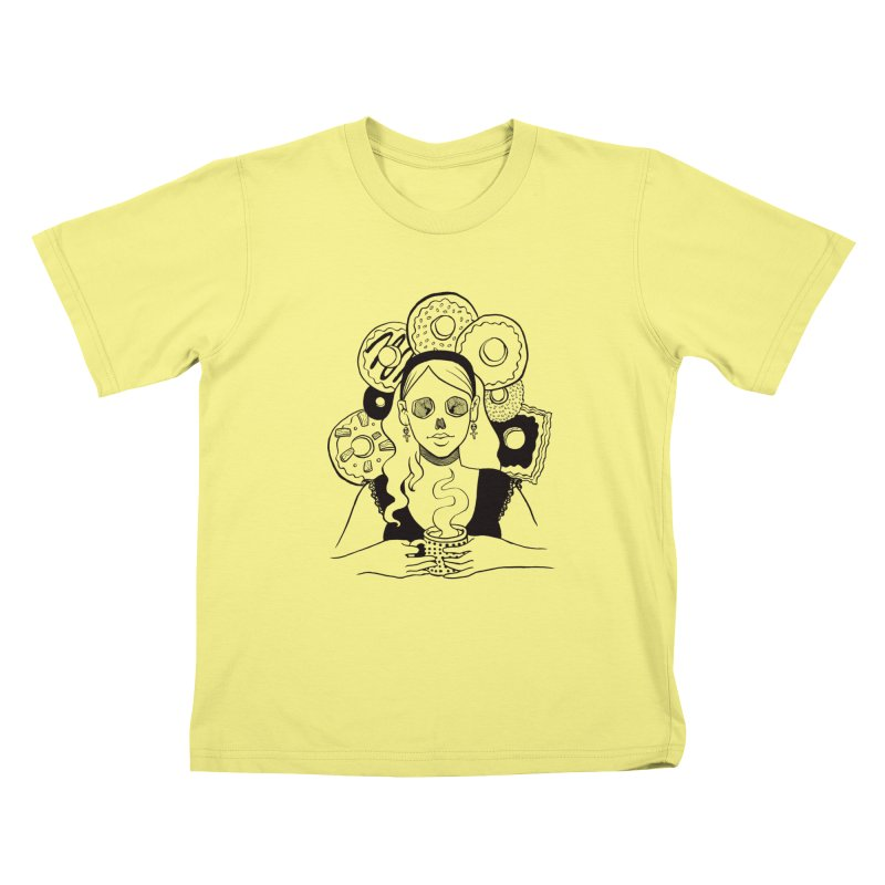 Death 'n' Donuts Kids T-shirt by Love for Ink Artist Shop