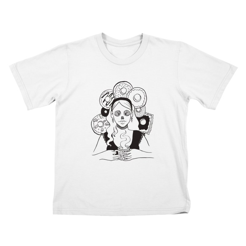 Death 'n' Donuts Kids T-Shirt by Melisa Des Rosiers Artist Shop