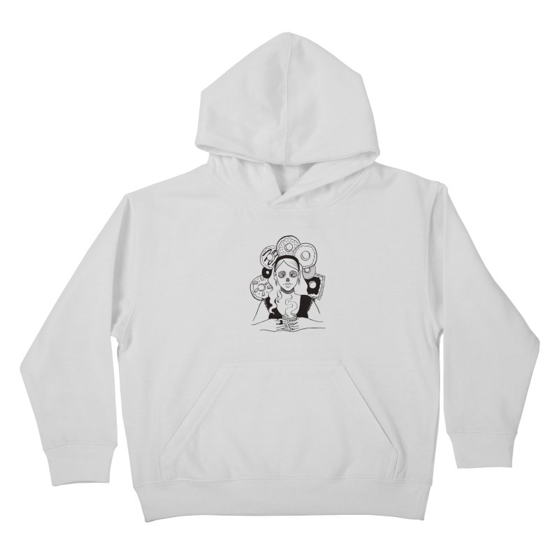 Death 'n' Donuts Kids Pullover Hoody by Love for Ink Artist Shop