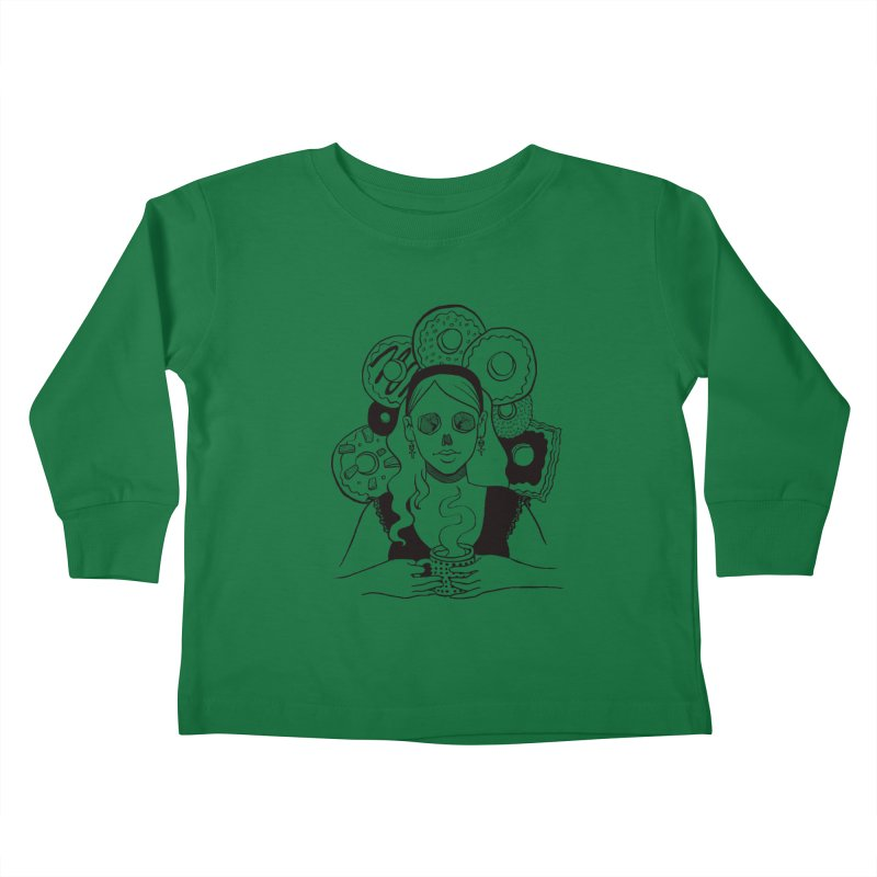 Death 'n' Donuts Kids Toddler Longsleeve T-Shirt by Love for Ink Artist Shop