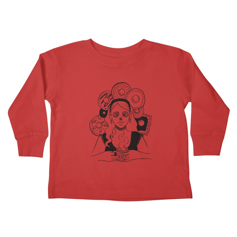 Death 'n' Donuts Kids Toddler Longsleeve T-Shirt by Melisa Des Rosiers Artist Shop