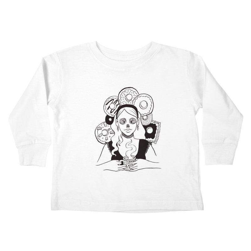 Death 'n' Donuts Kids Toddler Longsleeve T-Shirt by Melisa Des Rosiers Artist Shop