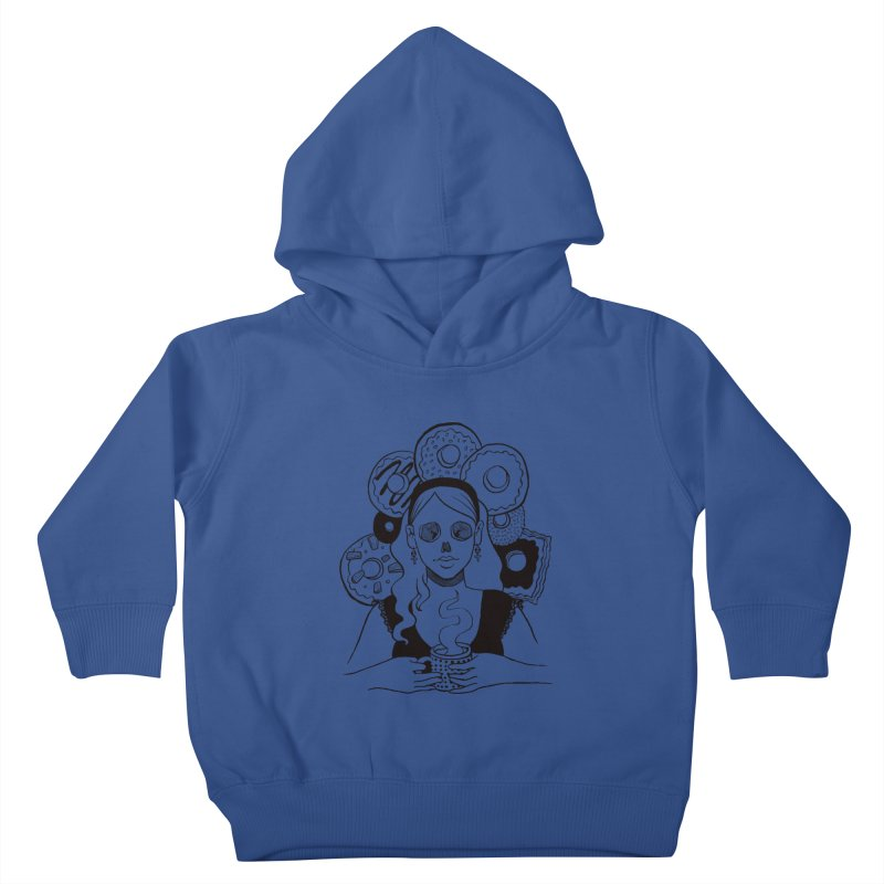 Death 'n' Donuts Kids Toddler Pullover Hoody by Love for Ink Artist Shop