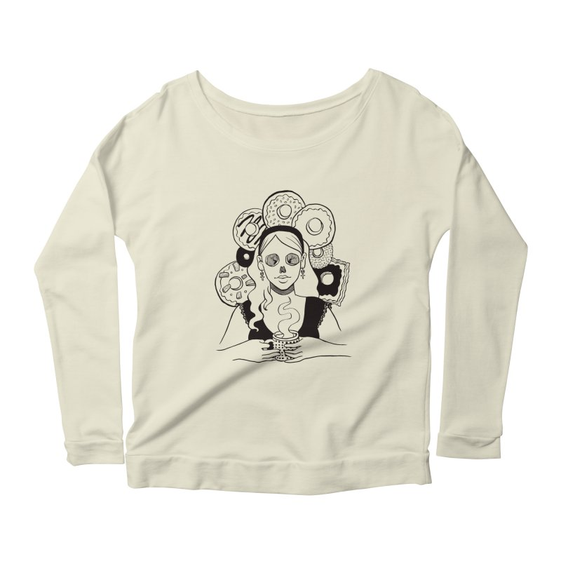 Death 'n' Donuts Women's Longsleeve Scoopneck  by Love for Ink Artist Shop