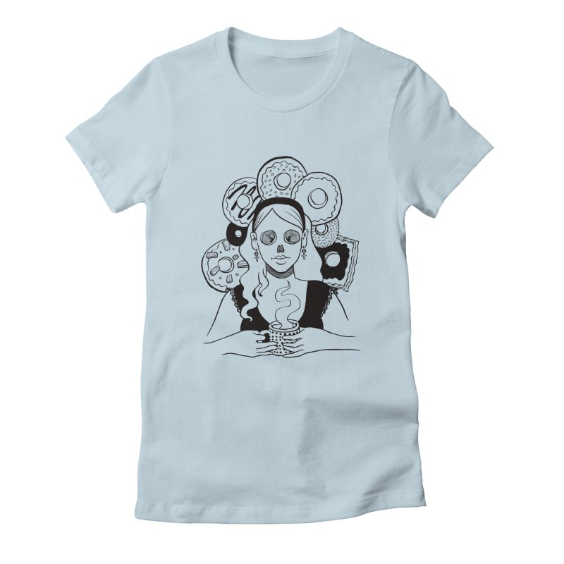 Death 'n' Donuts Women's Fitted T-Shirt by Melisa Des Rosiers Artist Shop