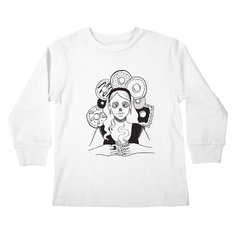 Death 'n' Donuts Kids Longsleeve T-Shirt by Love for Ink Artist Shop