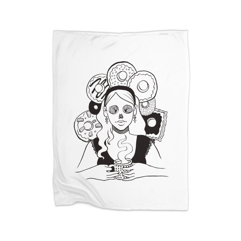 Death 'n' Donuts Home Fleece Blanket Blanket by Melisa Des Rosiers Artist Shop