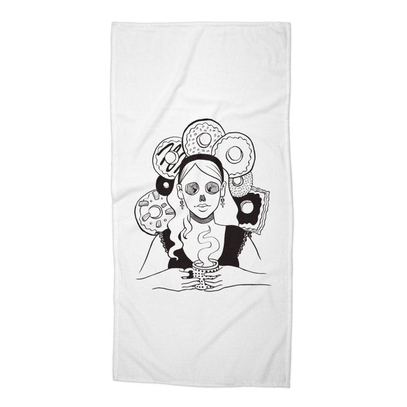 Death 'n' Donuts Accessories Beach Towel by Melisa Des Rosiers Artist Shop